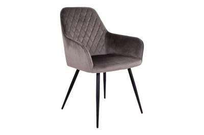 Dizajnová jedálenská stolička Gracelyn, sivohnedý zamat