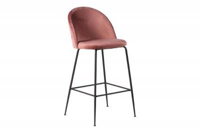 Dizajnová barová stolička Kristopher, ružová / čierna