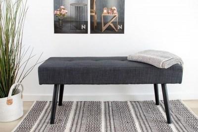 Dizajnová lavica Elaina tmavosivá