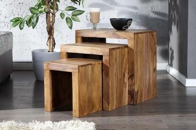 Luxusný set 3 stolíkov Santana