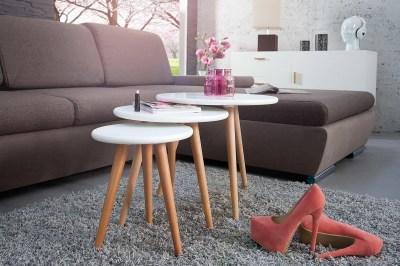 Dizajnový set 3 odkladacích stolíkov Sweden