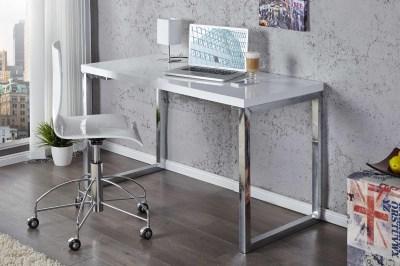 dizajnový stolík pre notebook Office biely