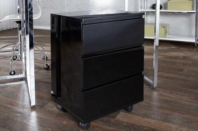 Dizajnová zásuvková skrinka pre pracovný stôl Boss čierny