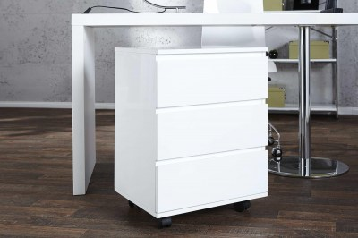Dizajnová zásuvková skrinka pre pracovný stôl Boss biely