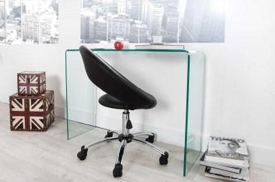 Dizajnový sklenený kancelársky stôl Phantom