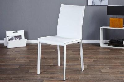 Luxusná jedálenská stolička Neapol biela