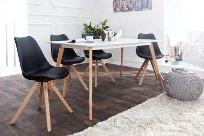 Dizajnová jedálenská stolička sweden NewLook čierna