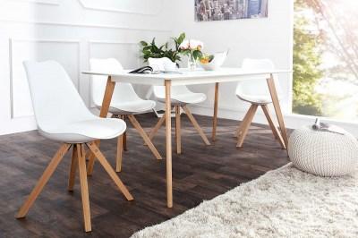 Dizajnová jedálenská stolička sweden NewLook biela