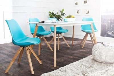 Dizajnová jedálenská stolička sweden NewLook tyrkysová