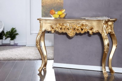 Luxusná konzola – toaletný stolík Veneto zlatá