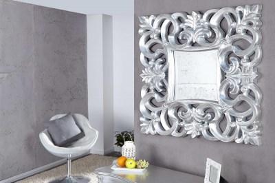 Luxusné zrkadlo Veneto strieborné