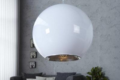 Dizajnová závesná lampa Sphere biela