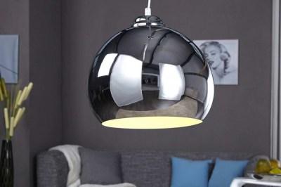 Dizajnová závesná lampa Club chrómová