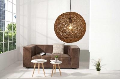 Dizajnová závesná lampa Wrap hnedá 45cm