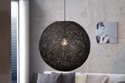 Dizajnová závesná lampa Wrap čierna 45cm