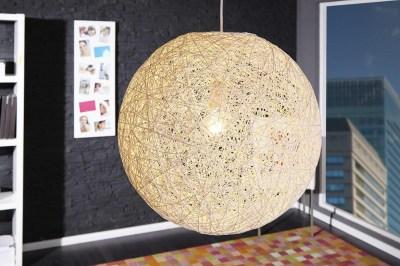 Dizajnová závesná lampa Wrap biela 45cm