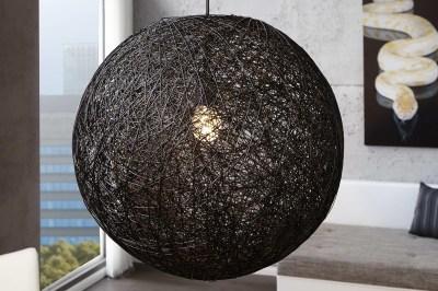 Dizajnová závesná lampa Wrap čierna 60cm