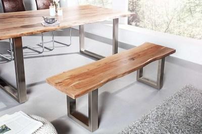 Luxusná lavica Massive z masívu agátové drevo