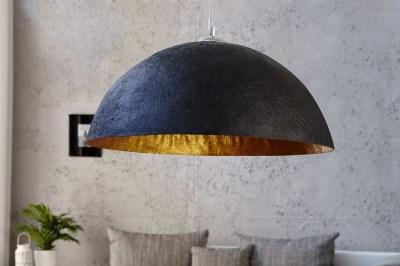 Dizajnová lampa Glimer 70cm čierno-zlatá