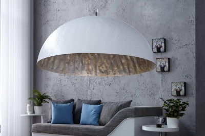 Dizajnová lampa Glimer 70cm bielo-strieborná