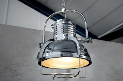 Dizajnová závesná lampa Commercial II 35 cm chrómová