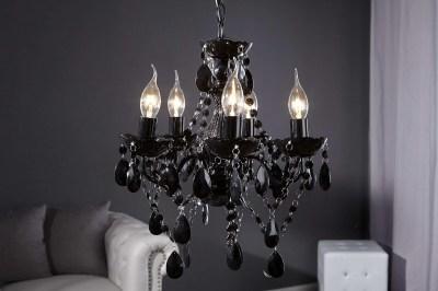 Luxusný kryštálový luster Barisimo S čierny