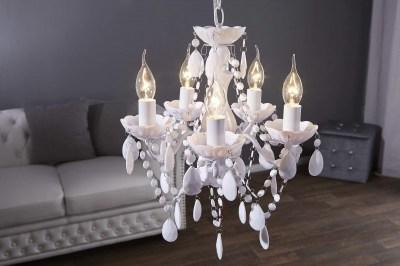 Luxusný kryštálový luster Barisimo S biely