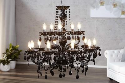 Luxusný kryštálový luster Barisimo XL čierny