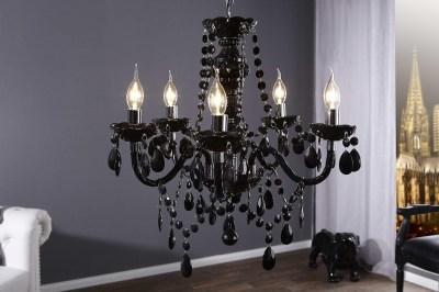 Luxusný kryštálový luster Barisimo čierny