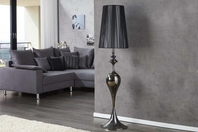 Dizajnová stojanová lampa LUCY čierna 160 cm