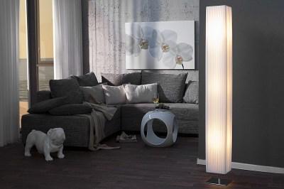 Dizajnová stojanová lampa HILON BIELA 160cm