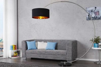 Stojanová lampa SNAKE čierna zlatá