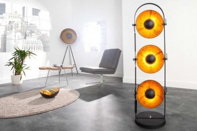 Dizajnová stojanová lampa STAGE čierna
