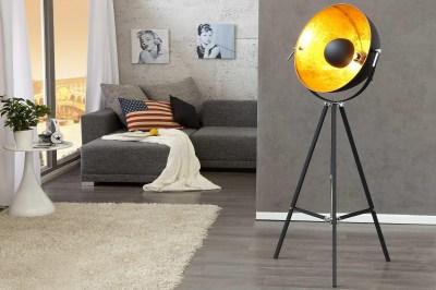 Dizajnová stojanová lampa STAGE čierno zlatá