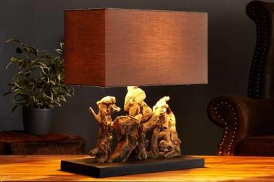 Dizajnová stolná lampa z naplaveného dreva NATURE