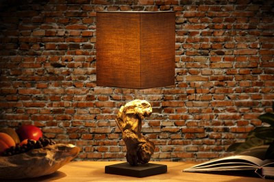 Dizajnová stolná lampa REST hnedá