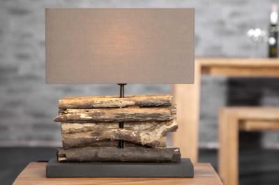 Dizajnová stolná lampa FERRE hnedá