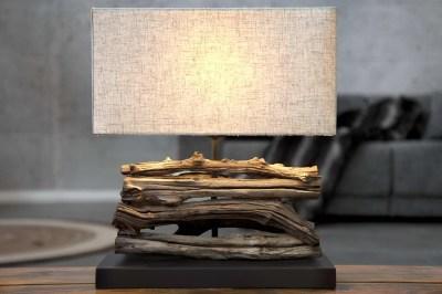 Dizajnová stolná lampa FERRE bežová