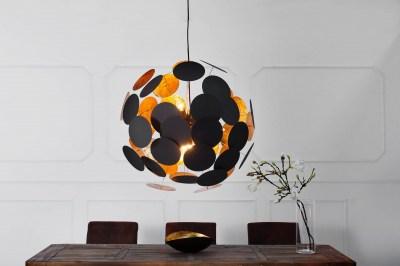 Dizajnová závesná lampa Sunshine čierna