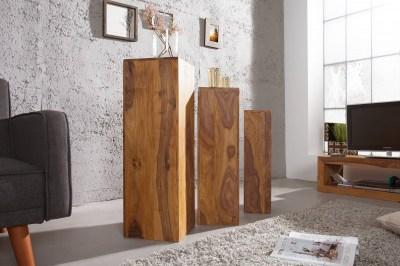 Luxusný set 3 stojanov Timber Honey masív