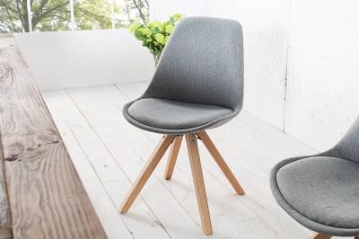Dizajnová jedálenská stolička NewLook II sivá