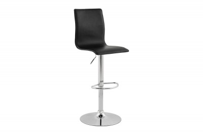 Dizajnová barová stolička Liam čierna