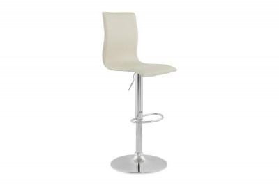 Dizajnová barová stolička Liam biela
