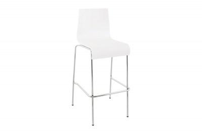 Moderná barová stolička Aiden biela