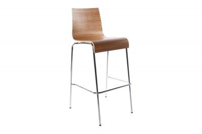 Moderná barová stolička Aiden zebrano