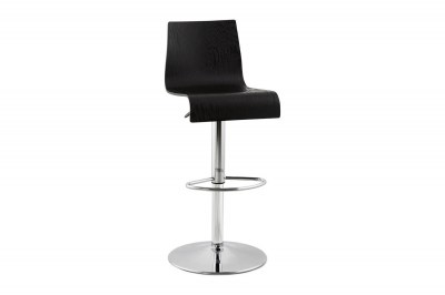 Moderná barová stolička Cameron čierna matná