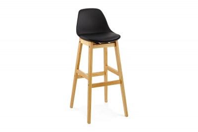 Moderná barová stolička Evan čierna