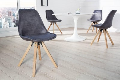 Dizajnová jedálenská stolička NewLook antracit