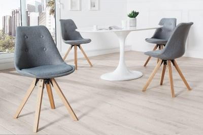 Dizajnová jedálenská stolička NewLook sivá