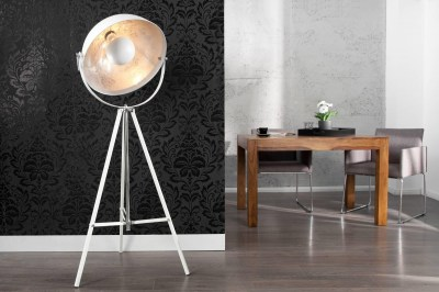 Dizajnová stojanová lampa Atelier 160cm biela
